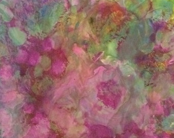 "Original Abstract Encaustic Painting 6"" x 6"" titled ""Joy """