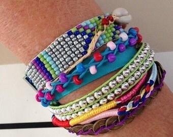 Bracelet brésilien typique du brésil turquoise neuf
