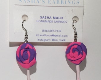 Multi colored lollipop earrings