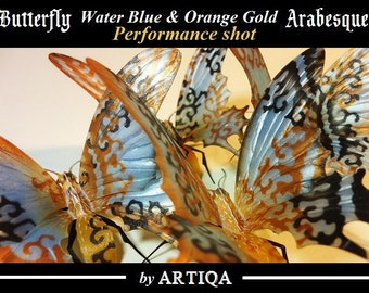interior,butterfly,wall art,object,sculpture,hand made,craft,original,display,orange gold,arabesque,gothic,For all butterfly art collectors!