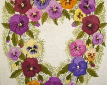 Heartsease- a crewel embroidery kit