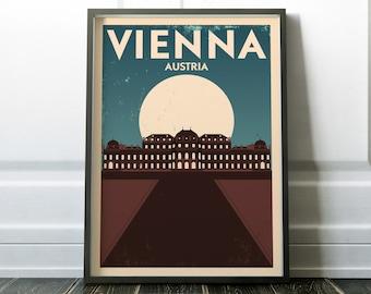Wall Art, Vienna Poster, Austria Print, Travel Print, Wall Art Print, Wall Decor, Travel Poster, Travel Art, Minimalist Print, Wall Print