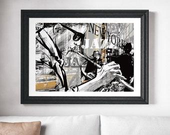 Music Poster Music Art Music Print Jazz Music Art Jazz Music Poster Jazz Music Print Modern Art Jazz Print Jazz Art Jazz Poster Wall Prints