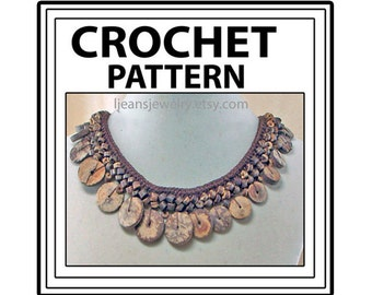 Crochet Wooden Bead Necklace Jewelry Pattern