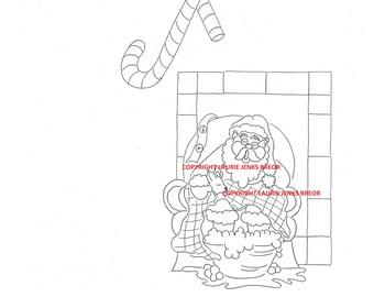 Digital stamp Snoozing Santa