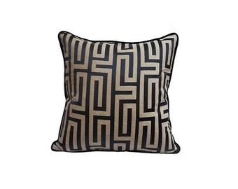 Pillow Cover Decorative Pillow Geometric Pillow Navy