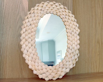 Shell Mirror, Seashell Mirror, Beach Decor, Mirror, Coastal Decor, Nautical Decor