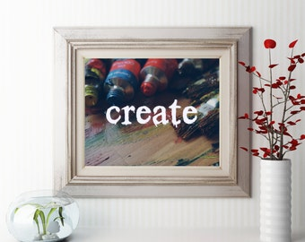 Printable Create over tubes of paint