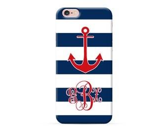 iPhone 7 plus case anchor iphone 7 case monogram iPhone 6s plus case strips iPhone 6s case custom iPhone 6 case monogrammed iphone SE case