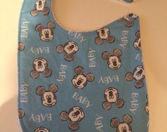 Disney Mickey Mouse Baby Bib Hand Made