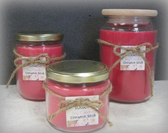 Red Cinnamon stick Soy Candle