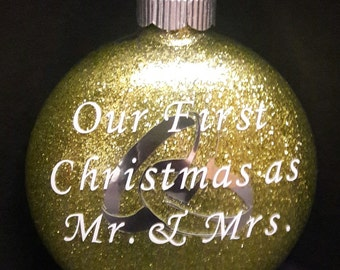 Christmas Ornament - First Christmas as Mr. & Mrs