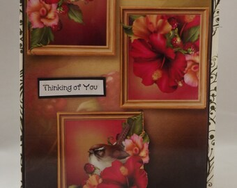 3-D Thinkig of you  Card blank inside