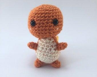 Handmade Crochet Chibi Charmander Kanto Starter Pokemon Amigurumi