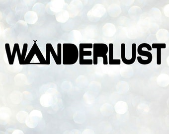 Wanderlust Vinyl Decal