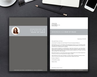 Application template identity classic for MS Word / German cvtemplate