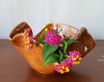 Ceramic Caramel Planter / Flower Pot