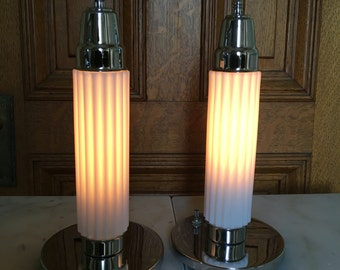 Fully restored 1930 glass lamps.