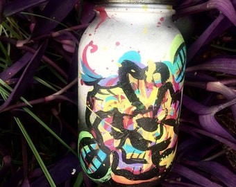 Custom painted mason jar