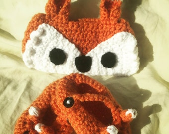 Fox Headband and Matching Flats - 3-6 MO