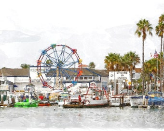 Balboa Fun Zone - Canvas Art, Newport Beach, Ca