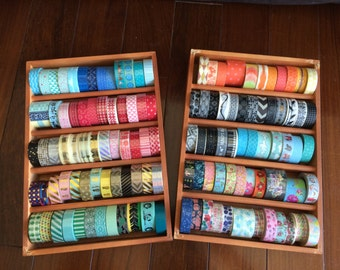 Washi Tape Maple Wood Case / Masking Tape Organizer / Tape Holder / washi tape storage
