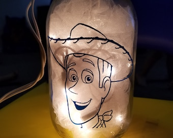Toy Story Woody Mason Jar Nightlight