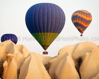 Hot Air Balloons over Cappadocia Turkey Fine Art Print, signed by photographer