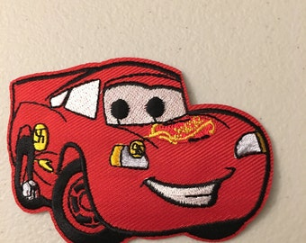 Cartoon CARS clothing Patch. (choose from Red Truck, Lighting McQueen, Mater, or Fillmore)
