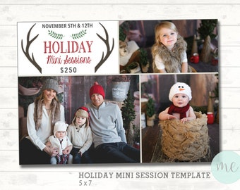 Christmas Mini Session Template. Christmas Photography Marketing. Social Media Template. Photoshop template. Photographer. INSTANT DOWNLOAD