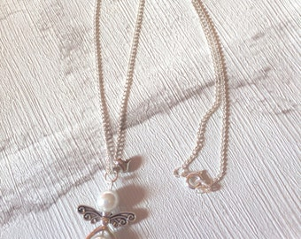Angel Necklace, Memory Necklace, Silver Necklace, Boho Jewellery, Angel Pendent, Memorial Angel, Angel Jewellery, Gifts For Her.
