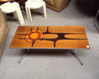1960's tiled coffee table