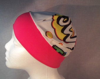 Child multcolor beanie with pink band