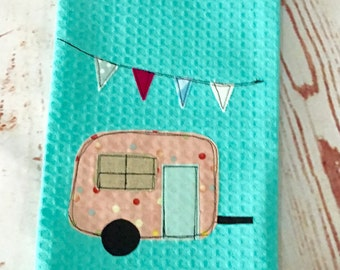 Retro Caravan Tea Towel # 3
