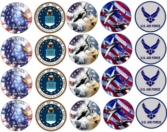 U.S. AIR FORCE Edible Images Cupcake, Cookie Toppers