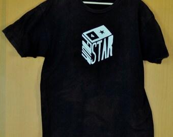 Vintage Four Star T Shirt Skate Clothing Skateboard Hiphop Large Size