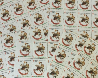 Vintage American lung Association Stamps,Norman Rockwell ,1981