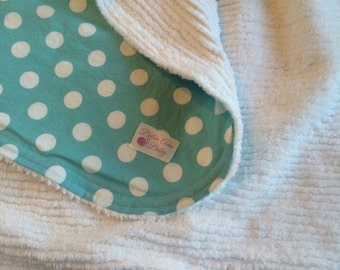 Made to Order-Polka Dot Chenille Blanket