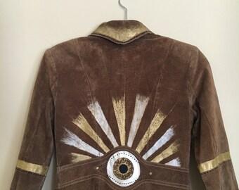 Rise & Shine - Hand Painted Vintage Jacket