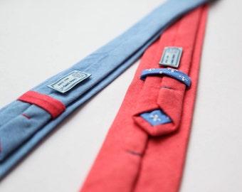 BLUE DREAM. Skinny tie! Hemp/organic cotton blend! Weddings! groomsman's accessories.