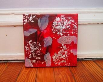 8x8 Acrylic and Metal Flake Canvas