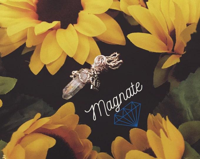 Magnate Clear Quartz Crystal Pendant