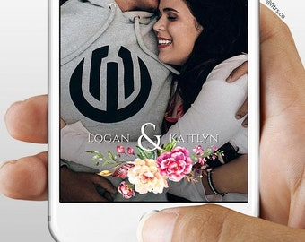 Snapchat Geofilter for Weddings or Engagements | 1-2 Hour Turnaround
