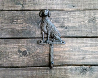 Dog Hook | Leash Hook | Cast Iron | DIY Decor | Dog Leash Hook