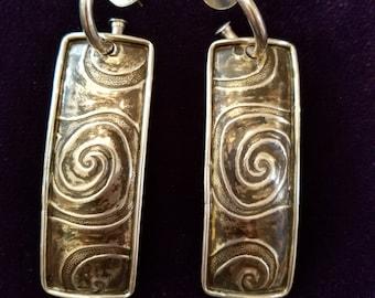 Vintage Tabra Signed Sterling Silver Earrings