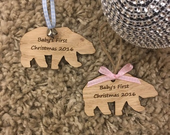 Babys first christmas decoration