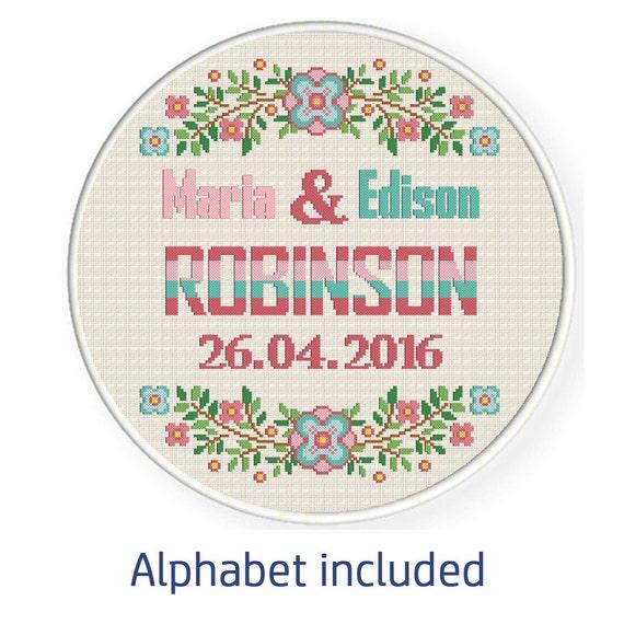 Buy 1 get 1 free. Modern Wedding cross stitch pattern