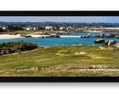 """Panoramique """"Kerlouan"""", tirage d'art 25 x 100 cm contrecollé sur Forex et monté en caisse américaine"""