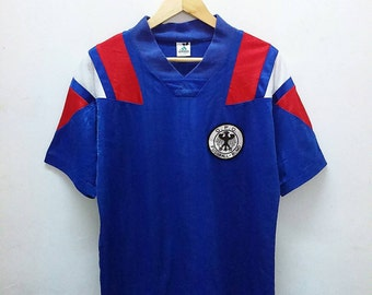 Hot Sale!!! Rare Vintage 90s ADIDAS JAPAN V-Neck Germany Football Club Jersey Hip Hop Skate Swag Large Size