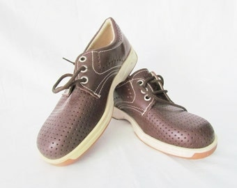 Vintage shoes Vintage child's shoes children shoes Oxford shoes boys shoes brown Leather shoes Kids Shoes retro shoes shoes Size 2